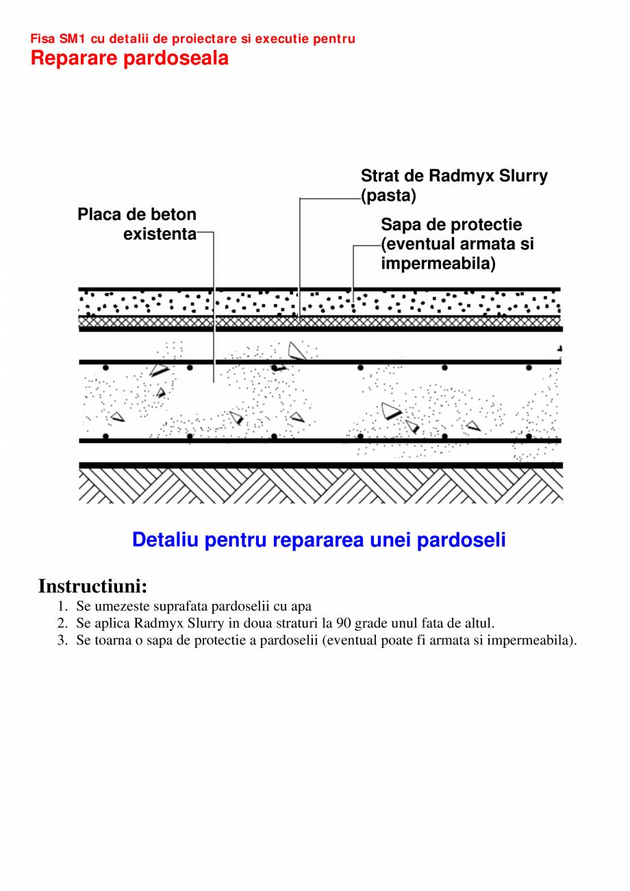 Pagina 1 - CAD-PDF Fisa SM1 cu detalii de proiectare si executie pentru reparatii UNICO PROFIT...