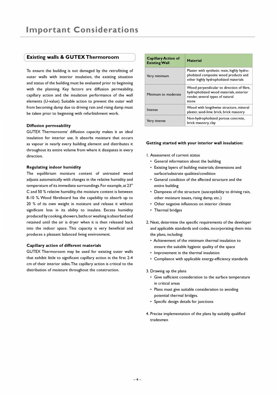 Pagina 4 - Placa izolatoare monostrat din fibre lemnoase GUTEX Thermoroom Catalog, brosura Engleza s...