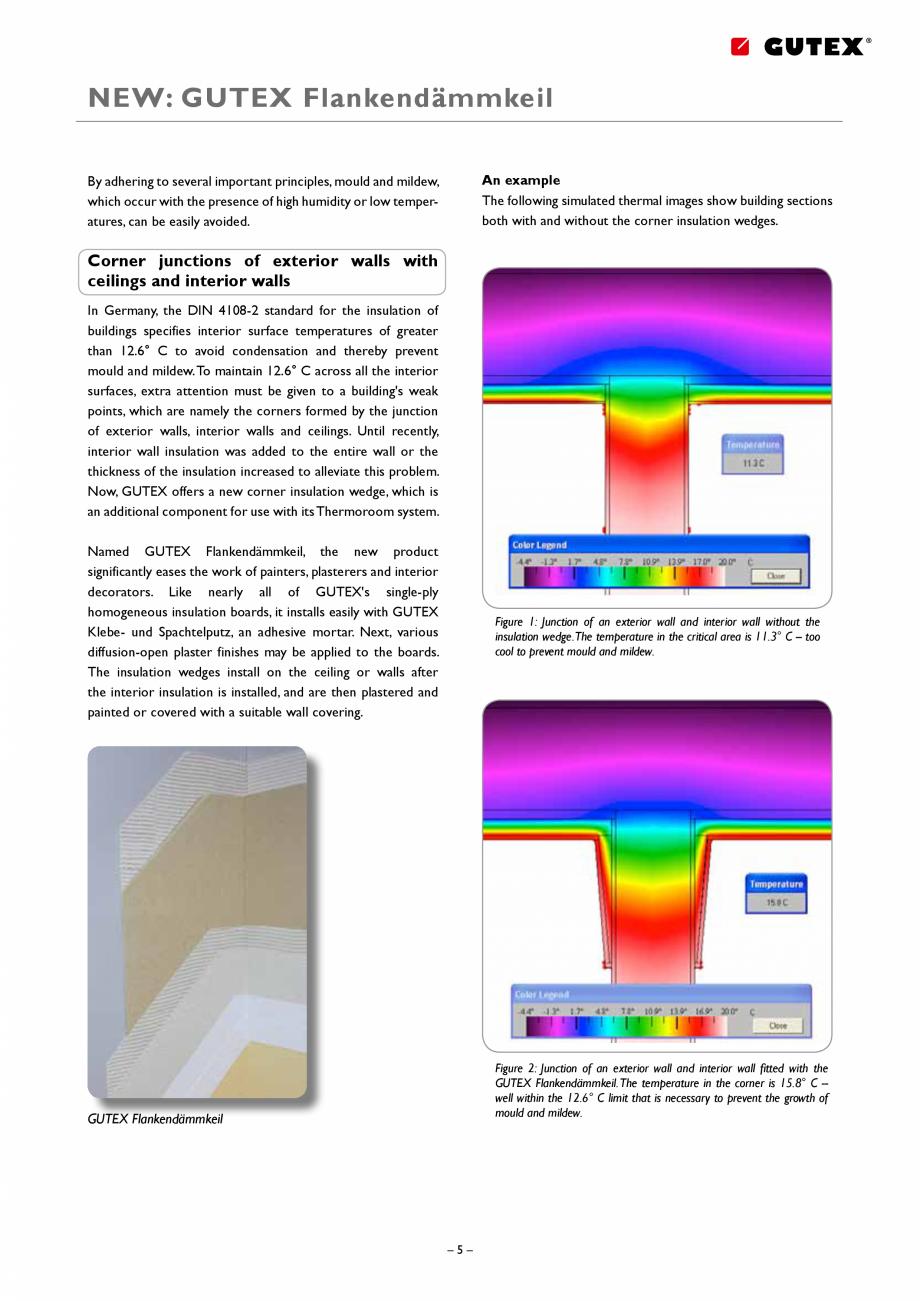 Pagina 5 - Placa izolatoare monostrat din fibre lemnoase GUTEX Thermoroom Catalog, brosura Engleza  ...