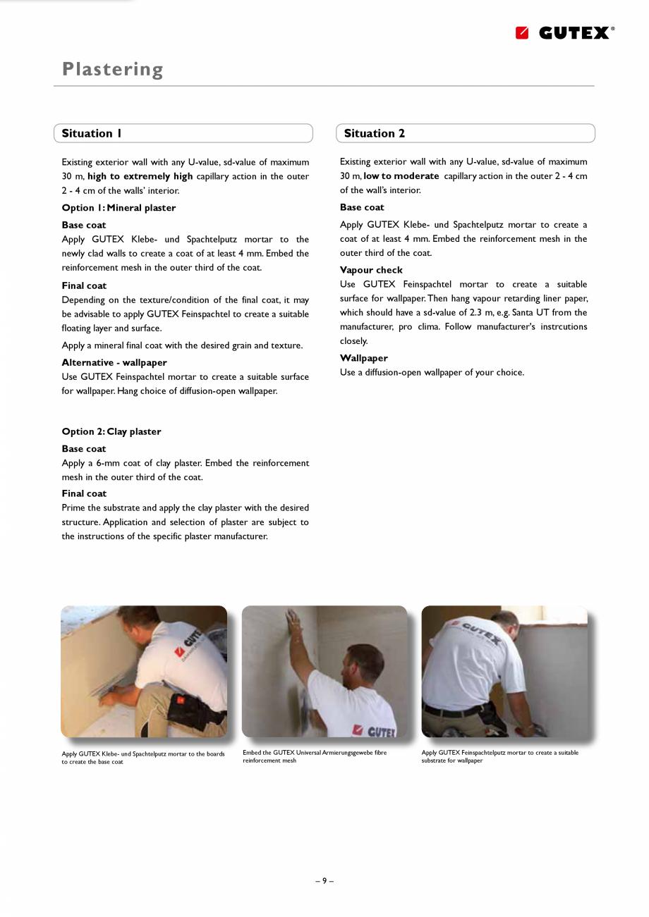 Pagina 9 - Placa izolatoare monostrat din fibre lemnoase GUTEX Thermoroom Catalog, brosura Engleza l...
