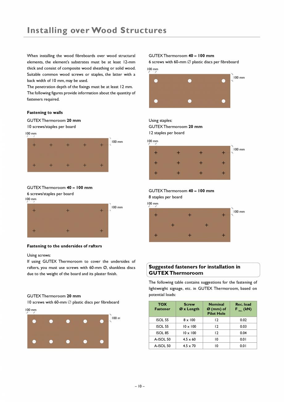 Pagina 10 - Placa izolatoare monostrat din fibre lemnoase GUTEX Thermoroom Catalog, brosura Engleza ...