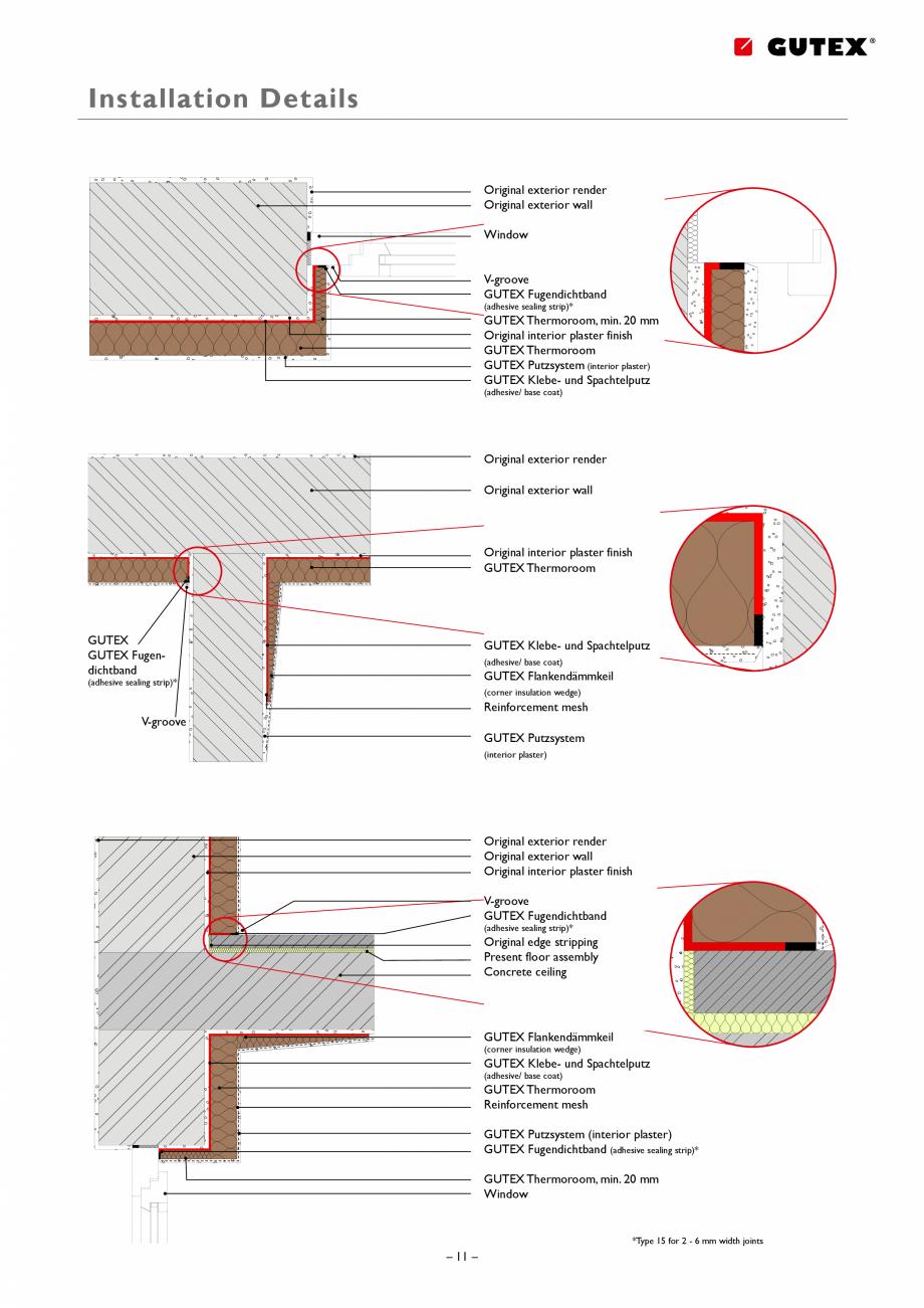 Pagina 11 - Placa izolatoare monostrat din fibre lemnoase GUTEX Thermoroom Catalog, brosura Engleza ...