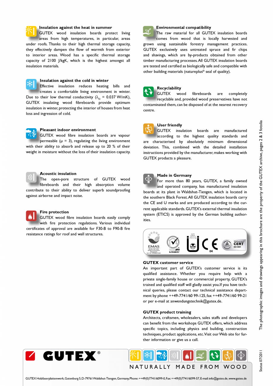 Pagina 12 - Placa izolatoare monostrat din fibre lemnoase GUTEX Thermoroom Catalog, brosura Engleza ...