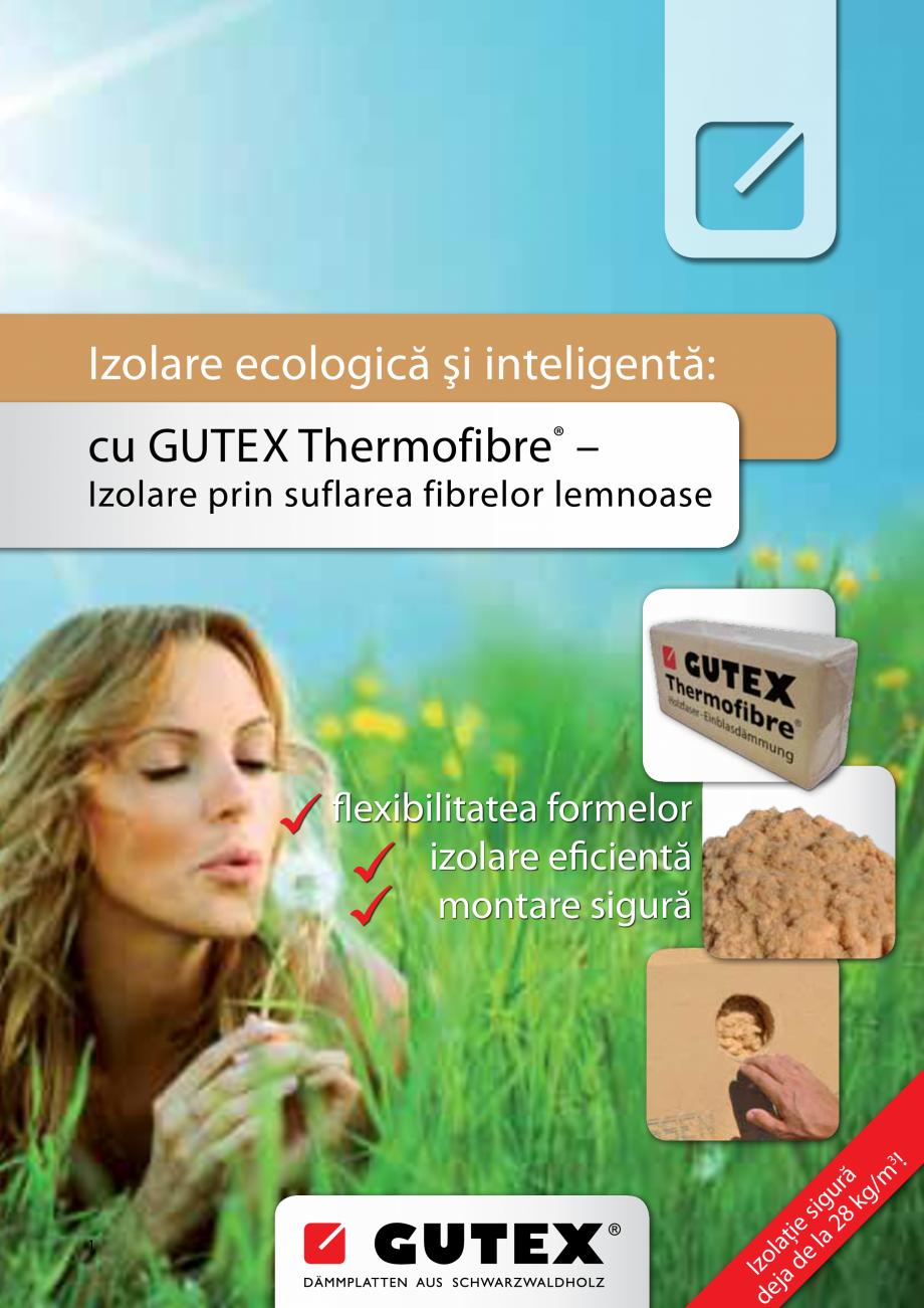 Pagina 1 - Izolare ecologica si inteligenta - Izolare prin suflarea fibrelor lemnoase GUTEX...
