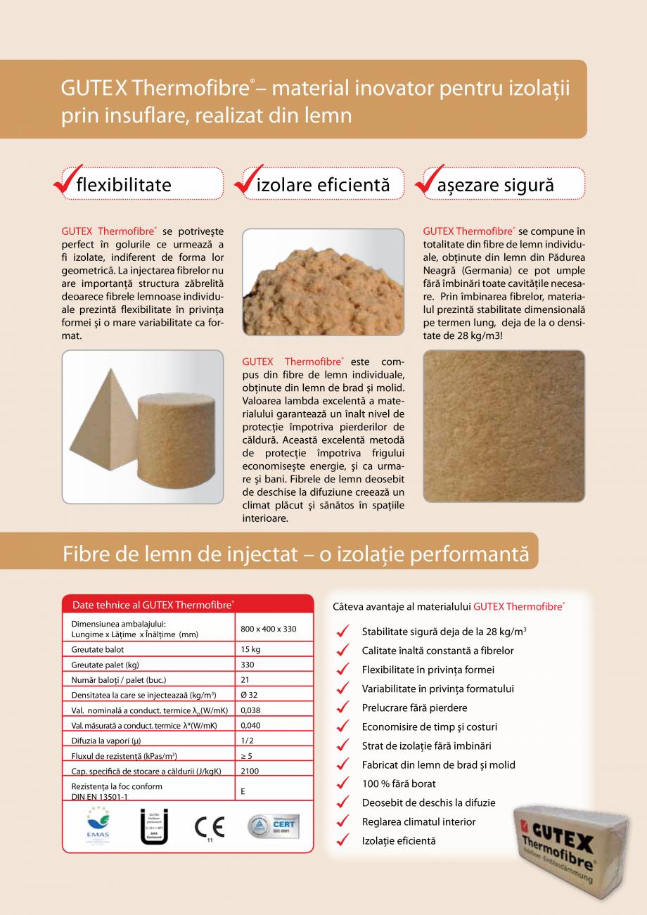 Pagina 2 - Izolare ecologica si inteligenta - Izolare prin suflarea fibrelor lemnoase GUTEX...