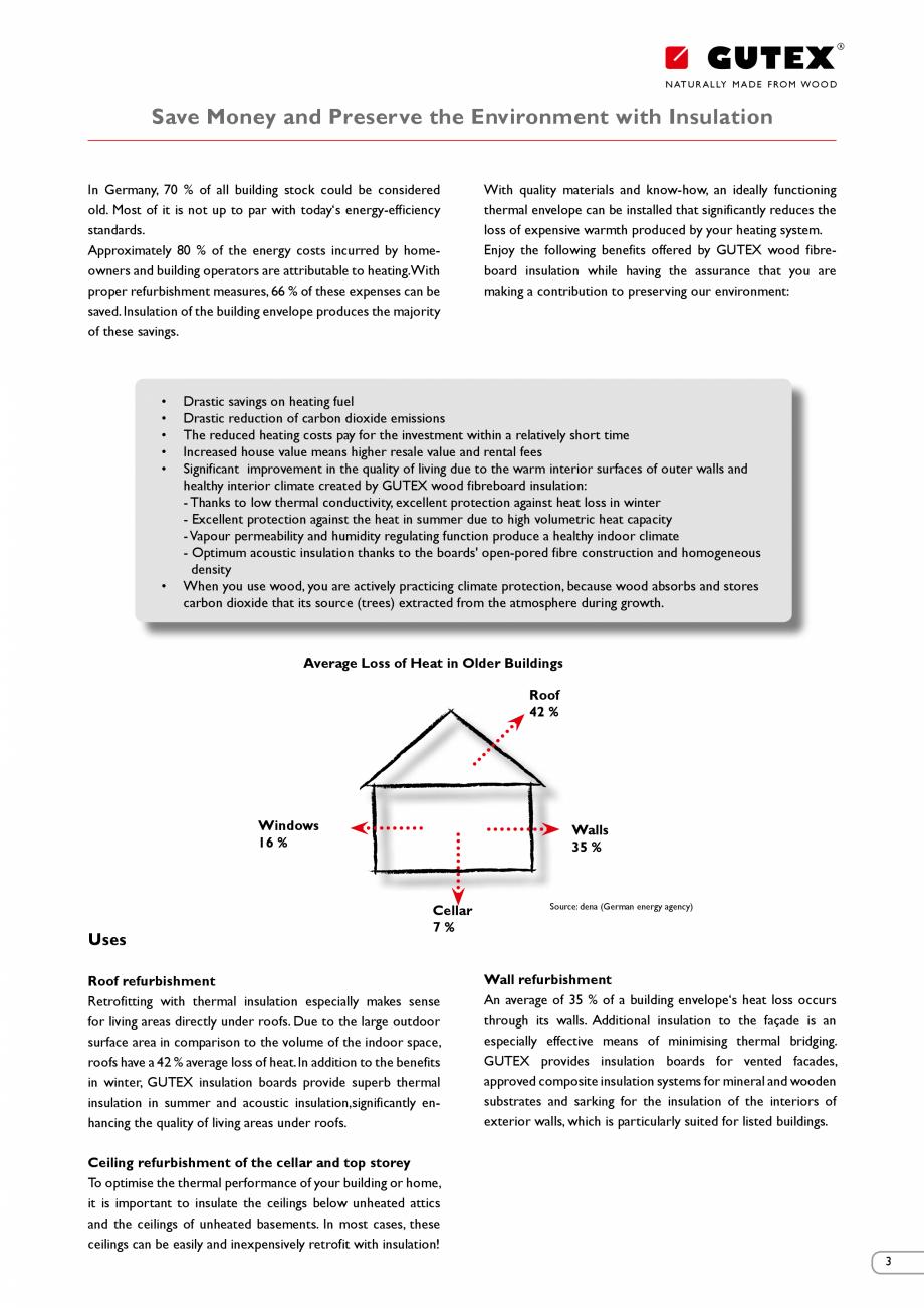 Pagina 3 - Renovarea energetica a cladirilor cu placi din fibre lemnoase Gutex GUTEX Multiplex-top, ...