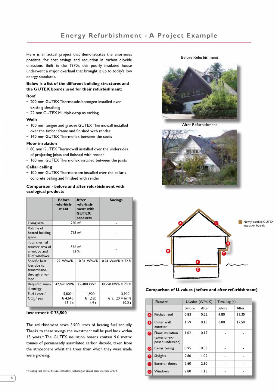Pagina 4 - Renovarea energetica a cladirilor cu placi din fibre lemnoase Gutex GUTEX Multiplex-top, ...