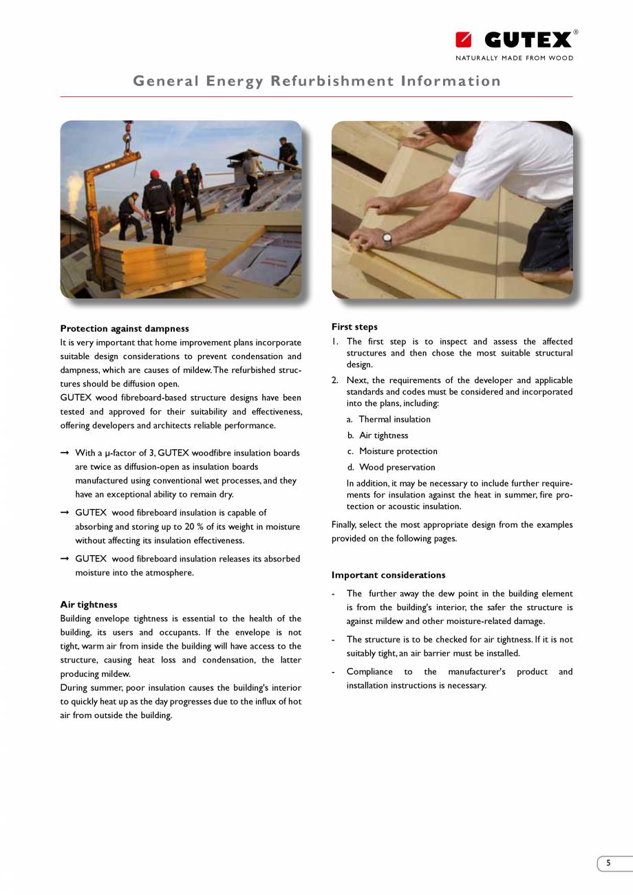 Pagina 5 - Renovarea energetica a cladirilor cu placi din fibre lemnoase Gutex GUTEX Multiplex-top, ...