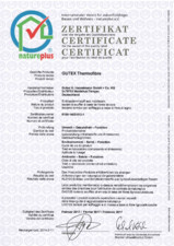 Certificat de calitate natureplus GUTEX