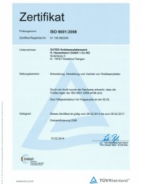 Certificat Gutex ISO 9001:2008