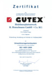 Certificat Gutex ISO 14001:2009 GUTEX