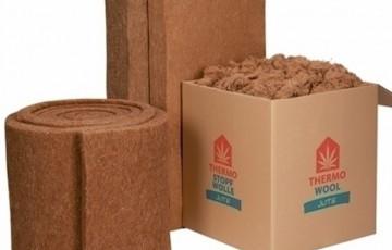 Termoizolatie naturala din fibre de iuta Termoizolatia naturala din fibre de iuta THERMO JUTE 100 este ideala pentru proiecte de constructii mari. Este stabila si rezistenta la rupere.
