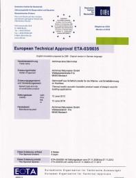 Agrement tehnic European