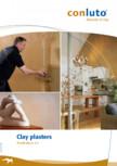 Tencuieli de argila pentru interior conluto
