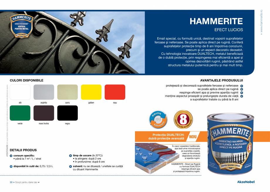 Pagina 17 - Solutii pentru ideile tale HAMMERITE EMAIL - Lucios, EMAIL - Lovitura de ciocan, EMAIL -...