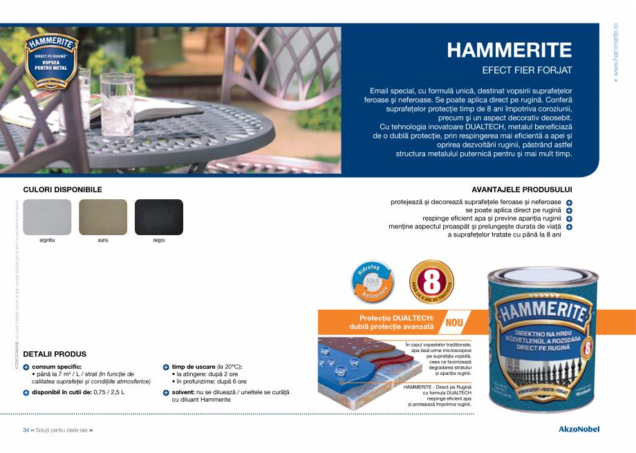 Pagina 19 - Solutii pentru ideile tale HAMMERITE EMAIL - Lucios, EMAIL - Lovitura de ciocan, EMAIL -...
