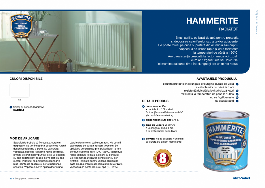 Pagina 20 - Solutii pentru ideile tale HAMMERITE EMAIL - Lucios, EMAIL - Lovitura de ciocan, EMAIL -...