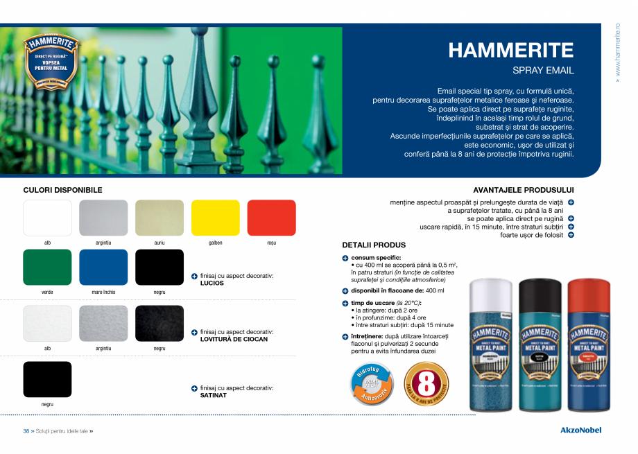 Pagina 21 - Solutii pentru ideile tale HAMMERITE EMAIL - Lucios, EMAIL - Lovitura de ciocan, EMAIL -...