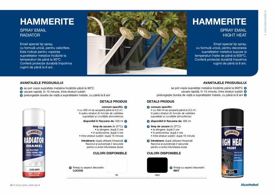 Pagina 22 - Solutii pentru ideile tale HAMMERITE EMAIL - Lucios, EMAIL - Lovitura de ciocan, EMAIL -...