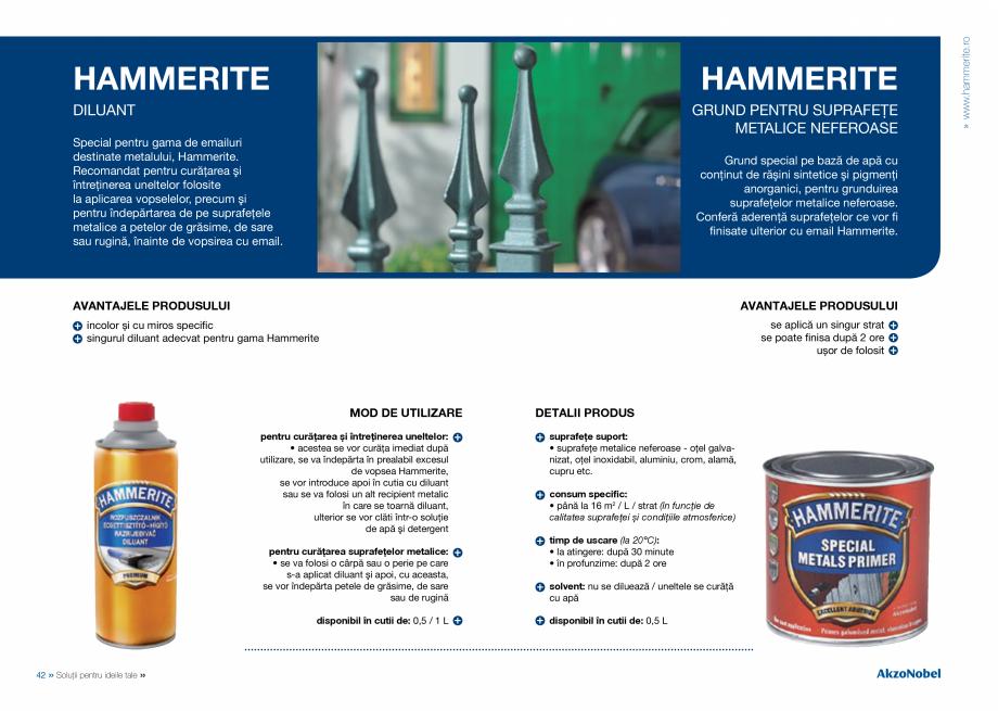 Pagina 23 - Solutii pentru ideile tale HAMMERITE EMAIL - Lucios, EMAIL - Lovitura de ciocan, EMAIL -...