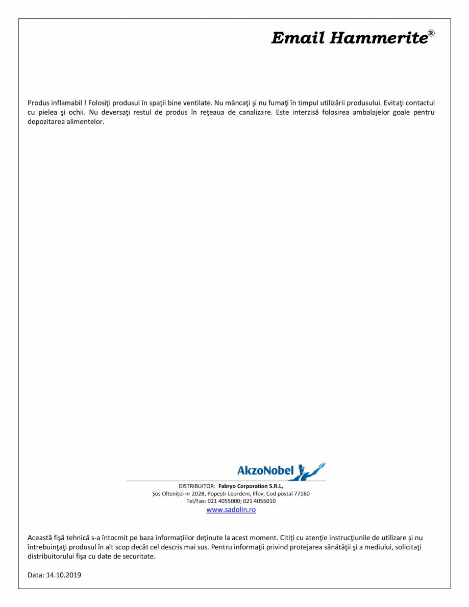 Pagina 2 - Email special pentru suprafete metalice HAMMERITE EMAIL - Lucios, EMAIL - Lovitura de...