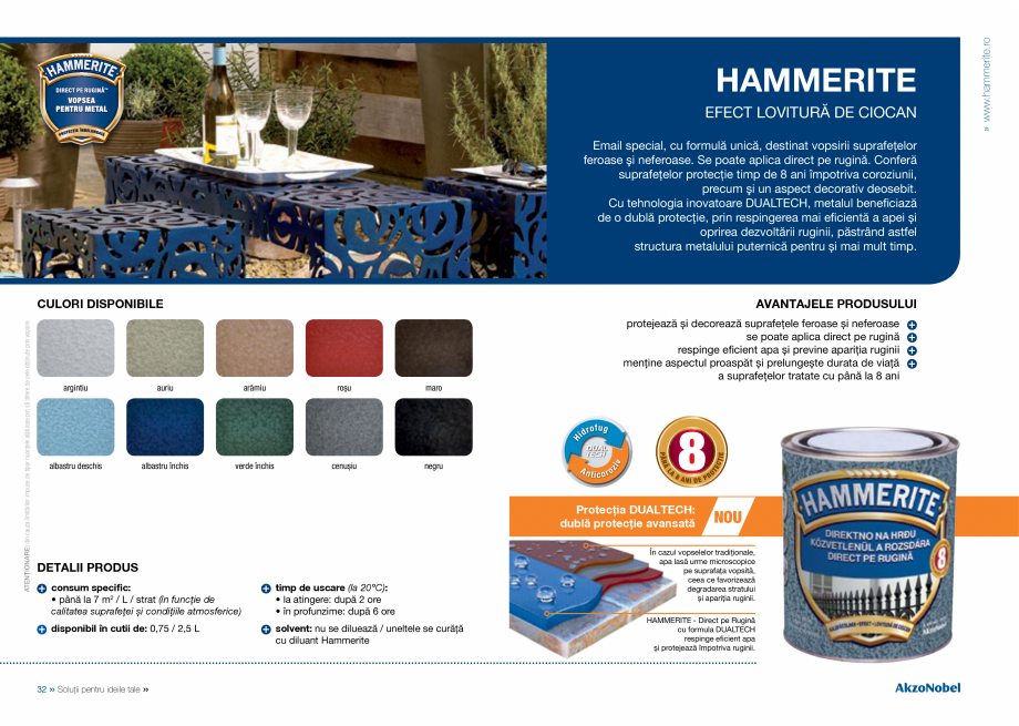Catalog, brosura Catalog complet 2018 - Akzo Nobel Coatings Fine Filler, Flexible Filler, Multi Filler, Super Filler DULUX Chituri acrilice pentru rosturi AKZO NOBEL COATINGS ă excesivă – perie de sârmă sau hârtie abrazivă; • săruri, grăsimi, praf sau alte... - Pagina 18