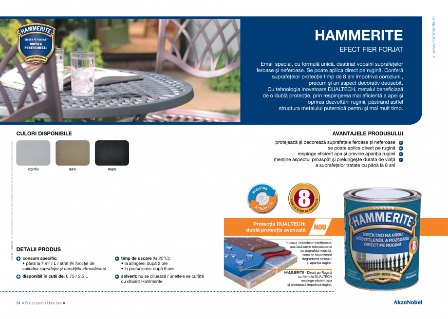 Catalog, brosura Catalog complet 2018 - Akzo Nobel Coatings Fine Filler, Flexible Filler, Multi Filler, Super Filler DULUX Chituri acrilice pentru rosturi AKZO NOBEL COATINGS sau rola;  • Se va respecta timpul de uscare pentru revopsire de 1-2 ore. 3. Vopsirea: Produsele... - Pagina 19
