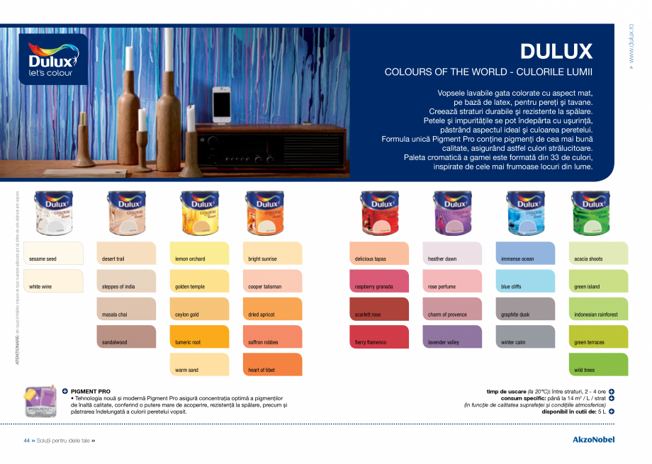 Pagina 24 - Solutii pentru ideile tale - Catalog complet 2018  DULUX Easy Smooth, Quick Set Cement...