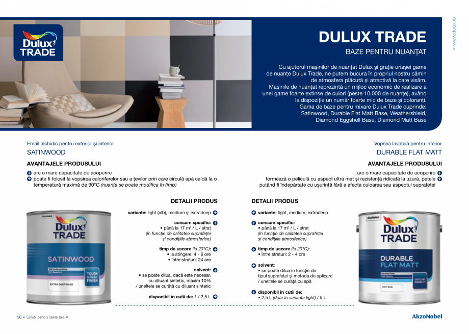 Pagina 27 - Solutii pentru ideile tale - Catalog complet 2018  DULUX Easy Smooth, Quick Set Cement...