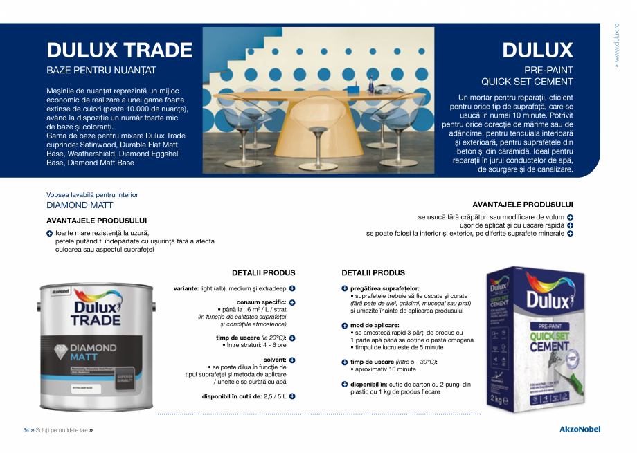 Pagina 29 - Solutii pentru ideile tale - Catalog complet 2018  DULUX Easy Smooth, Quick Set Cement...