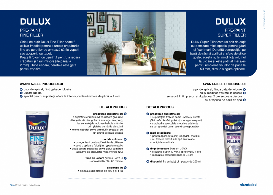 Pagina 30 - Solutii pentru ideile tale - Catalog complet 2018  DULUX Easy Smooth, Quick Set Cement...