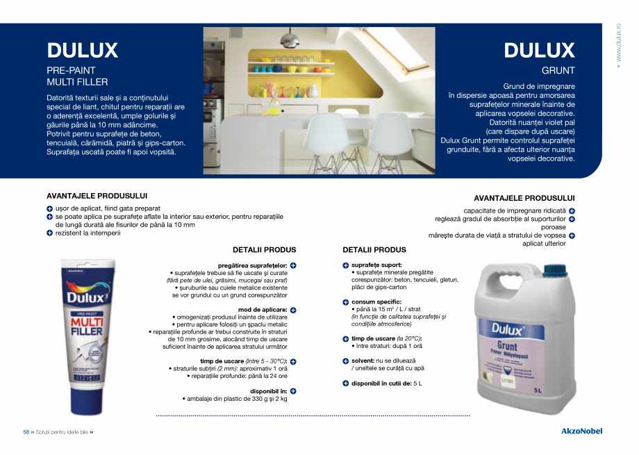 Pagina 31 - Solutii pentru ideile tale - Catalog complet 2018  DULUX Easy Smooth, Quick Set Cement...