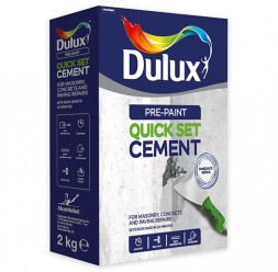 Chituri de reparatii pe baza de ciment Akzo Nobel Coatings prezinta gama Dulux Pre-Paint: Chituri pe baza de ciment pentru reparatii rapide ale fisurilor in pereti de interior.