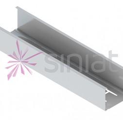Profile metalice pentru gips carton Profilele metalice pentru gips carton Siniat se utilizeaza pentru ghidarea si mentinerea pe pozitie a profilelor montant (CW), la montajul structurii metalice pentru pereti sau placari (profil de ghidaj) in cadrul sistemelor Aquaboard.