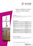 Racord NONIUS inferior CD60 fix NIDA Metal SINIAT - Racord inferior CD60