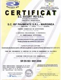 Certificat pentru controlul productiei in fabrica - pavele si borduri din beton