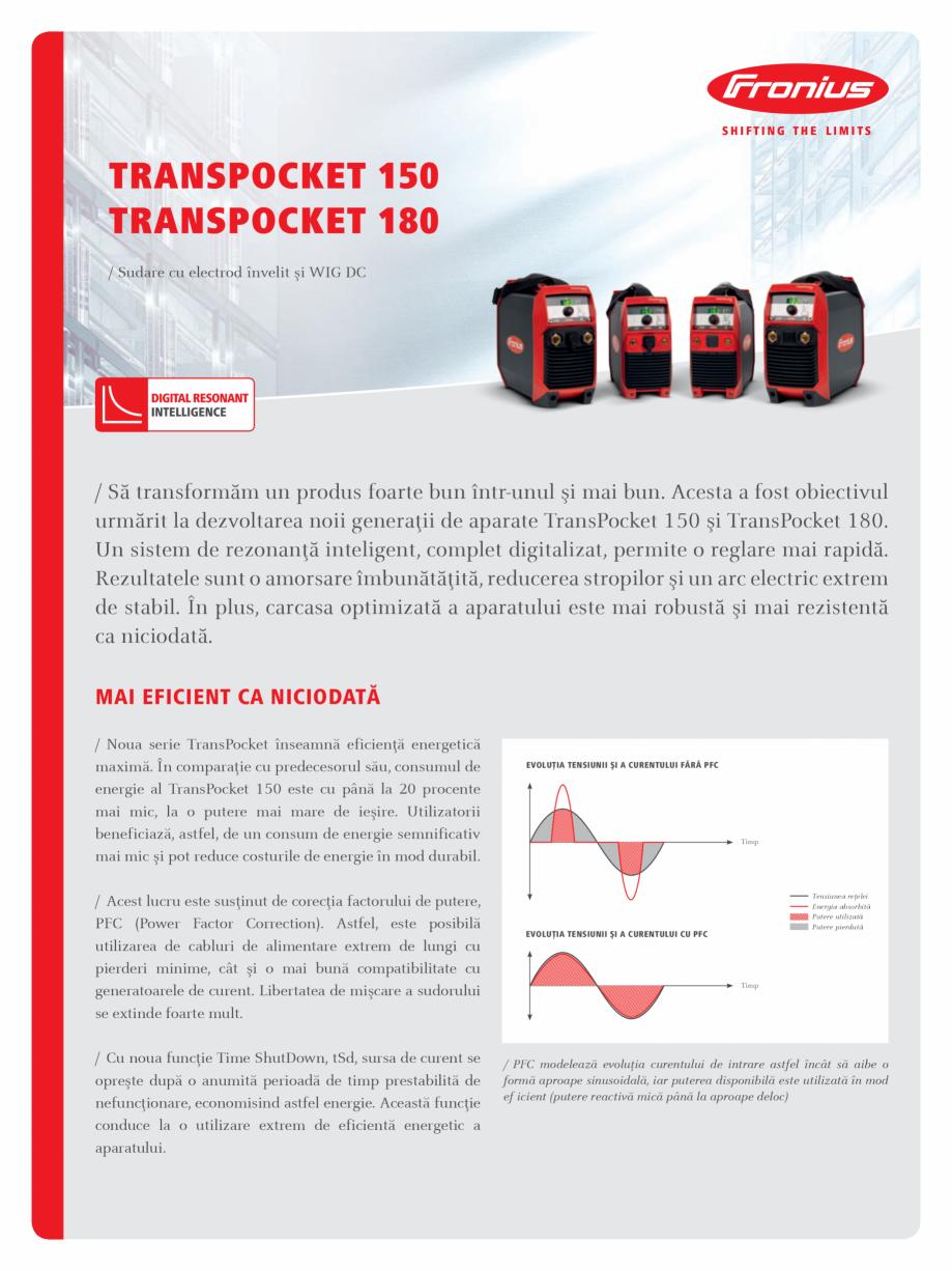 Pagina 1 - Echipament sudura cu electrozi SEI FRONIUS TransPocket 150, TransPocket 180 Fisa tehnica ...