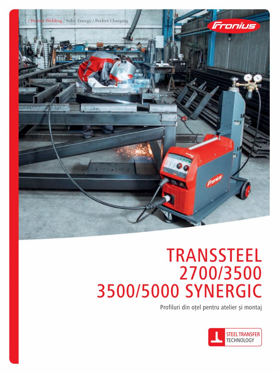 Pagina 1 - Echipament sudura MIG/MAG FRONIUS TransSteel 3500 Synergic, TransSteel 5000 Synergic...