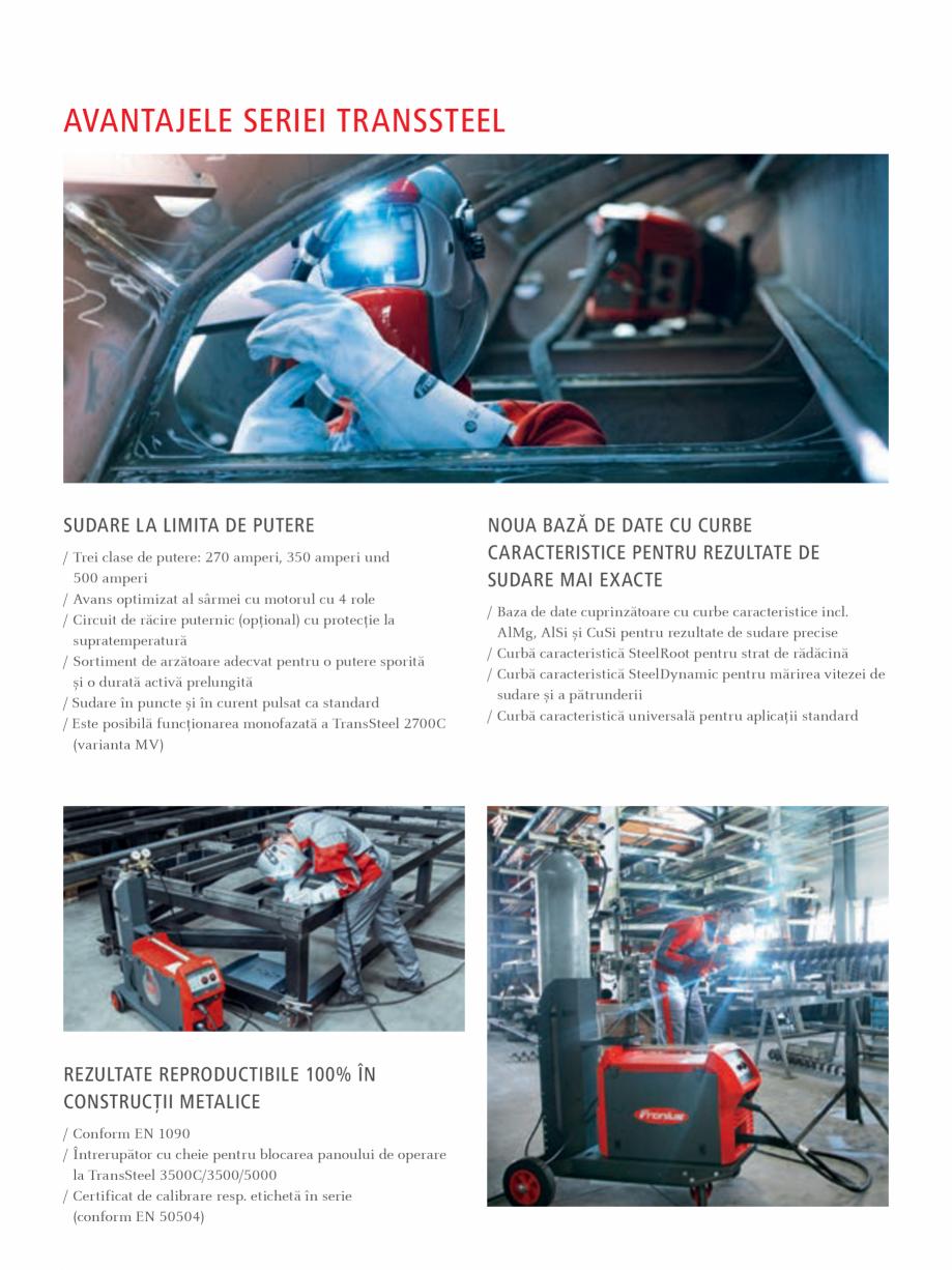 Pagina 3 - Echipament sudura MIG/MAG FRONIUS TransSteel 3500 Synergic, TransSteel 5000 Synergic...
