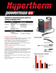 Aparat de taiere si craituire cu plasma  HYPERTHERM - Powermax 65
