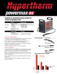 Aparat de taiere si craituire cu plasma  HYPERTHERM - Powermax 85