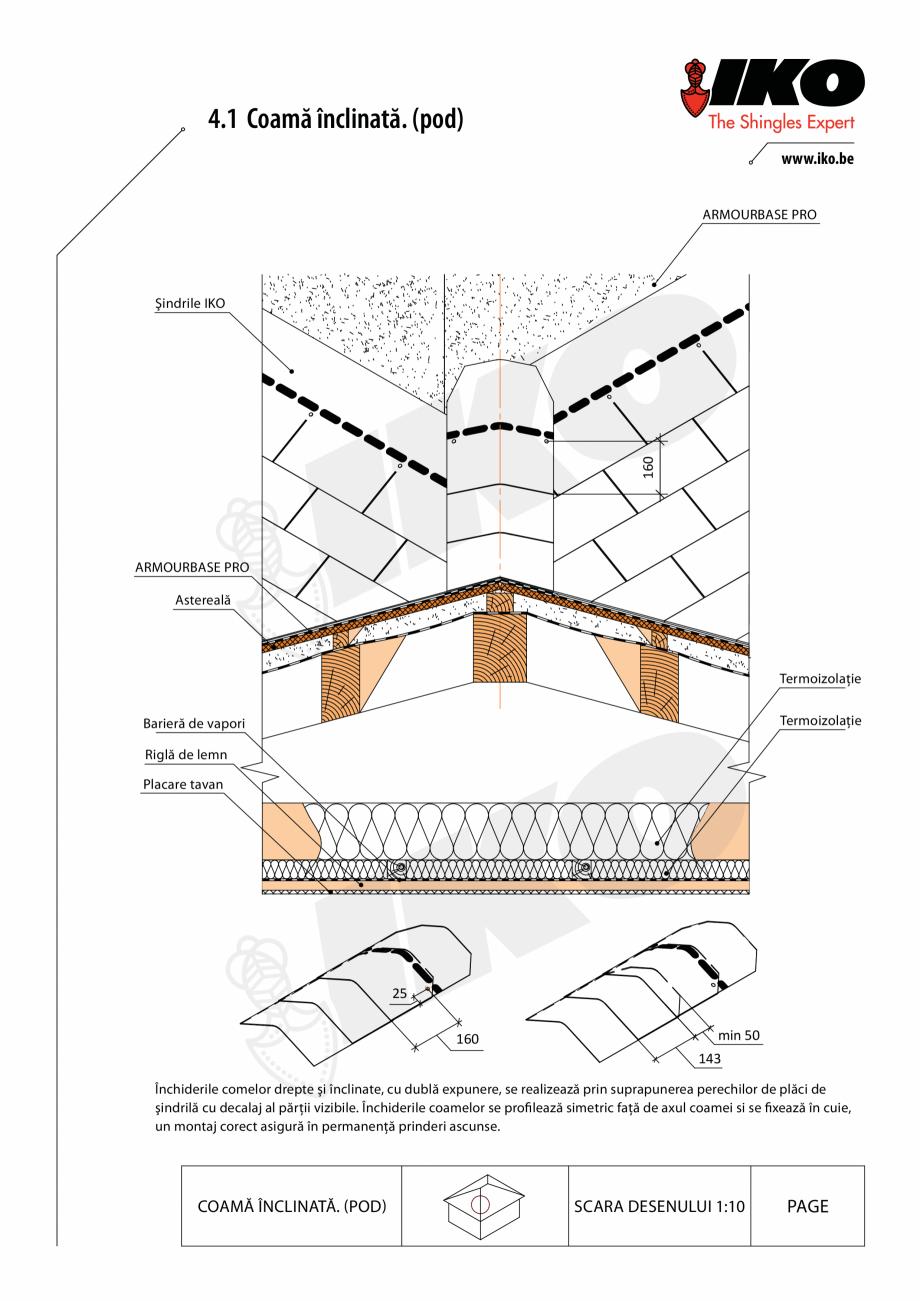 Pagina 1 - CAD-PDF Inchidere de coama IKO Detaliu de montaj