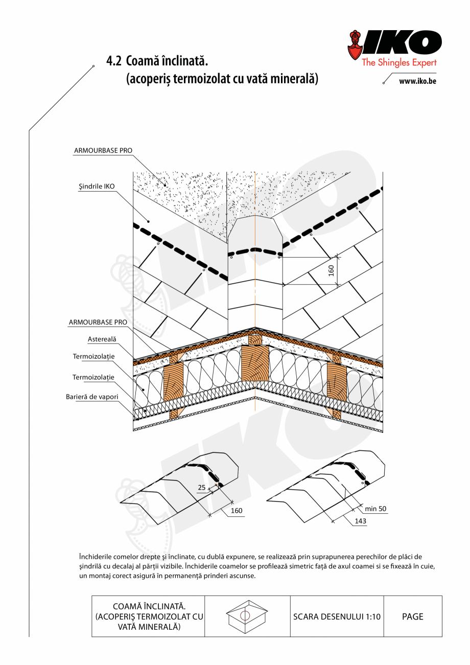 Pagina 2 - CAD-PDF Inchidere de coama IKO Detaliu de montaj