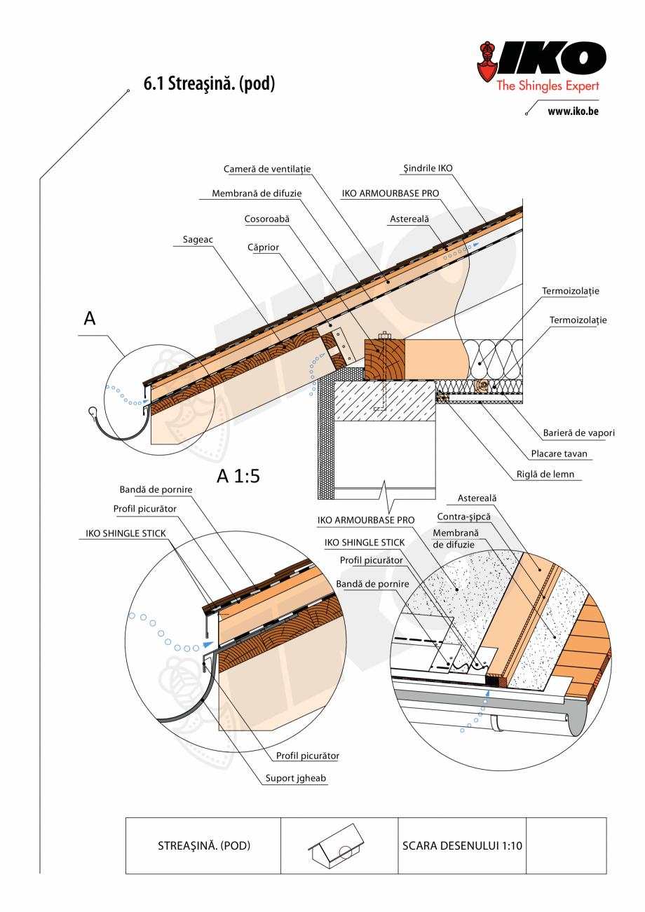 Pagina 1 - CAD-PDF Detaliu streasina IKO Detaliu de montaj