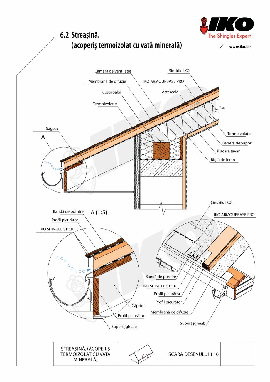 Pagina 2 - CAD-PDF Detaliu streasina IKO Detaliu de montaj
