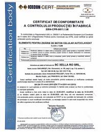 Certificat de conformitate a controlului productiei in fabrica 2019