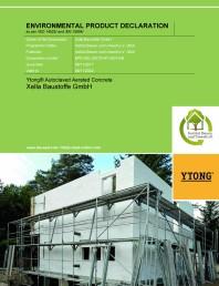 Certificare EPD - pentru betonul celular autoclavizat