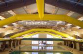 Tubulatura textila pentru ventilatie Tubulatura textila FabricAir® poate fi montata in orice aplicatie datorita greutatii reduse, lipsei de generare condens, a evacuarii aerului intr-un mod silentios si uniform repartizat.