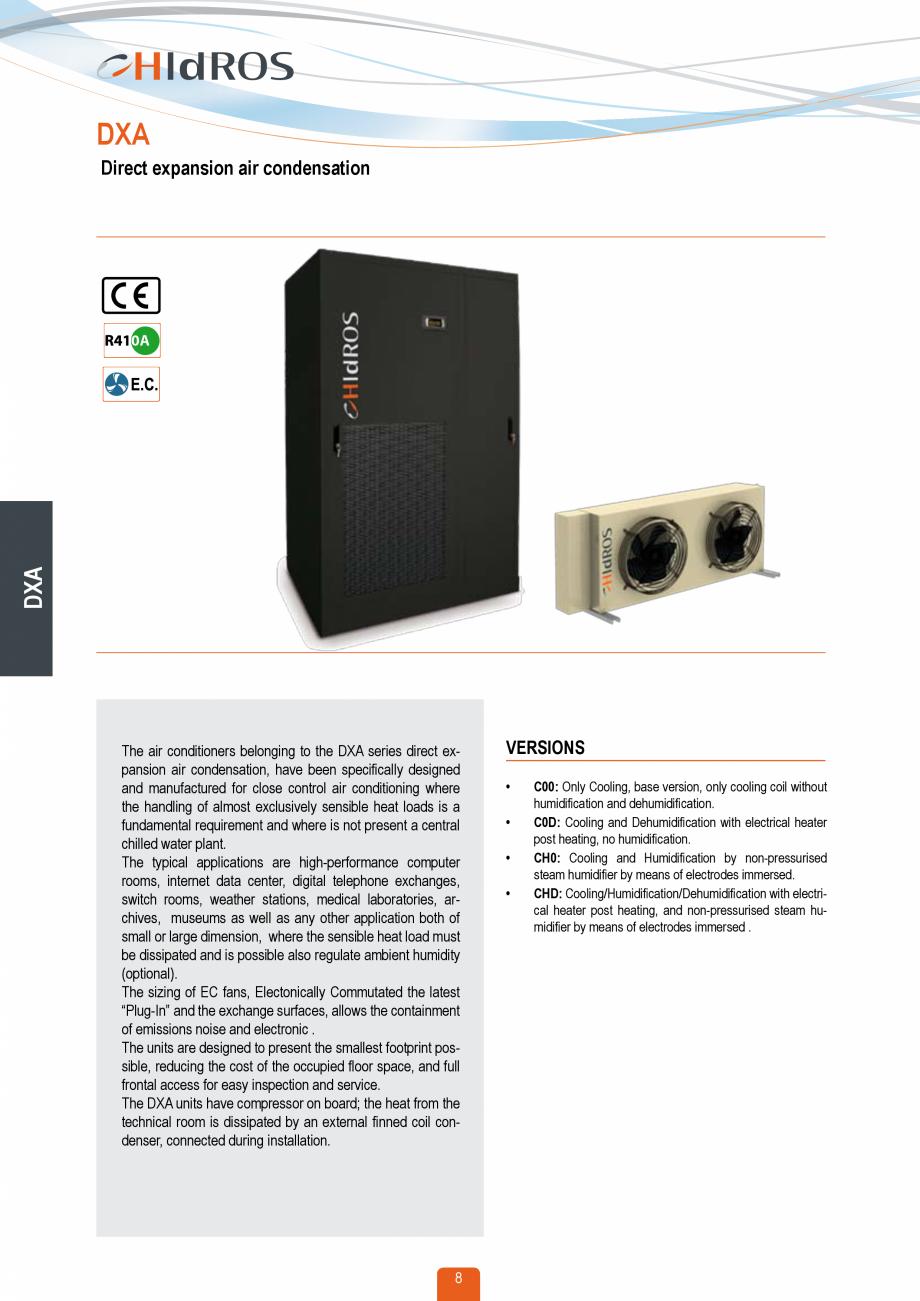 Pagina 7 - Catalog sisteme de climatizare Close Control HACE DXA, DXW Catalog, brosura Engleza vely ...