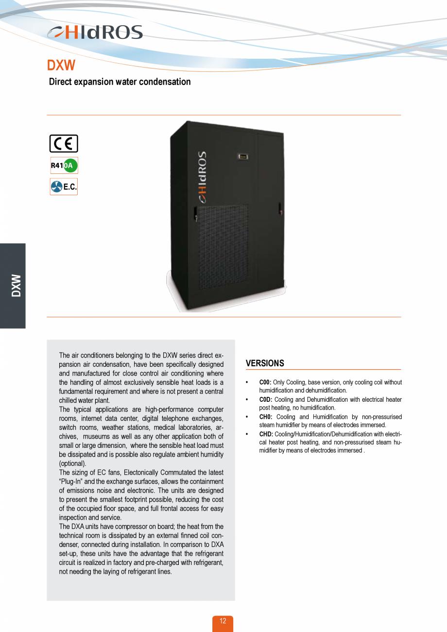 Pagina 11 - Catalog sisteme de climatizare Close Control HACE DXA, DXW Catalog, brosura Engleza 250 ...